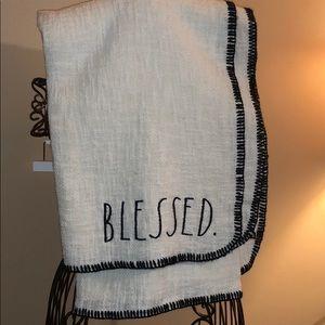 🔥 Rae Dunn BLESSED Throw Blanket